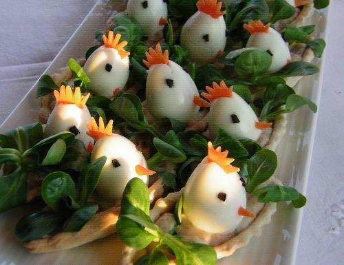 Antipasto di Pasqua con uova di quaglia