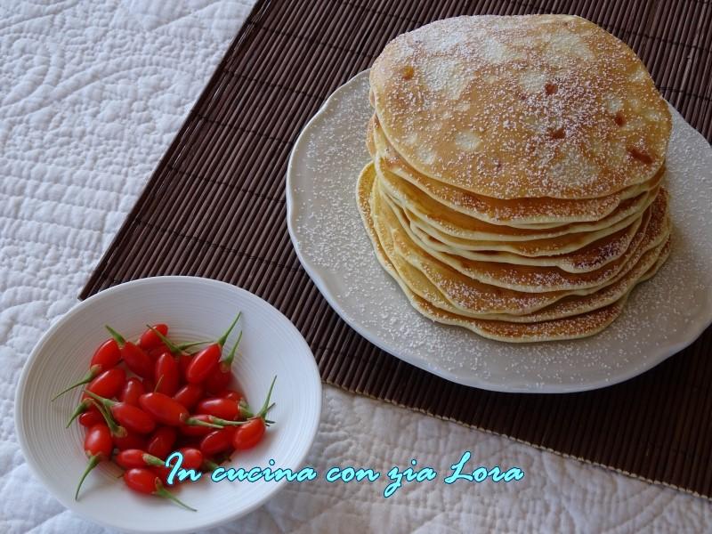 pancake con bacche di goji