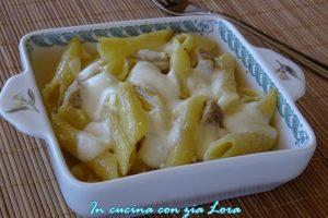 Carbonara al forno con mozzarella