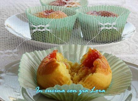 Muffin con marmellata di albicocche