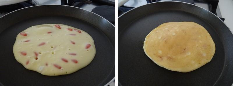 preparazione dei pancake con bacche di goji