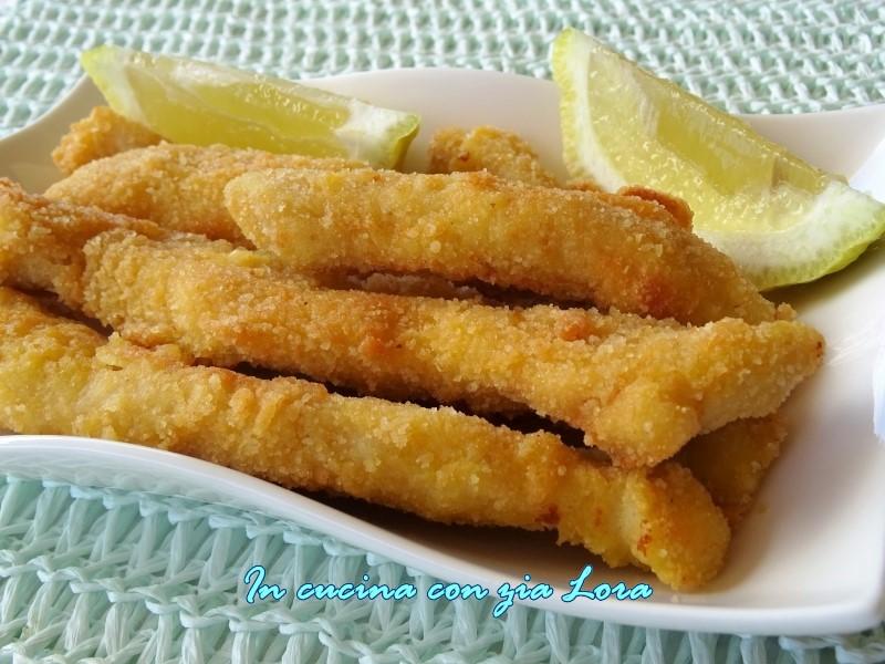 bastoncini di pollo fritti croccanti