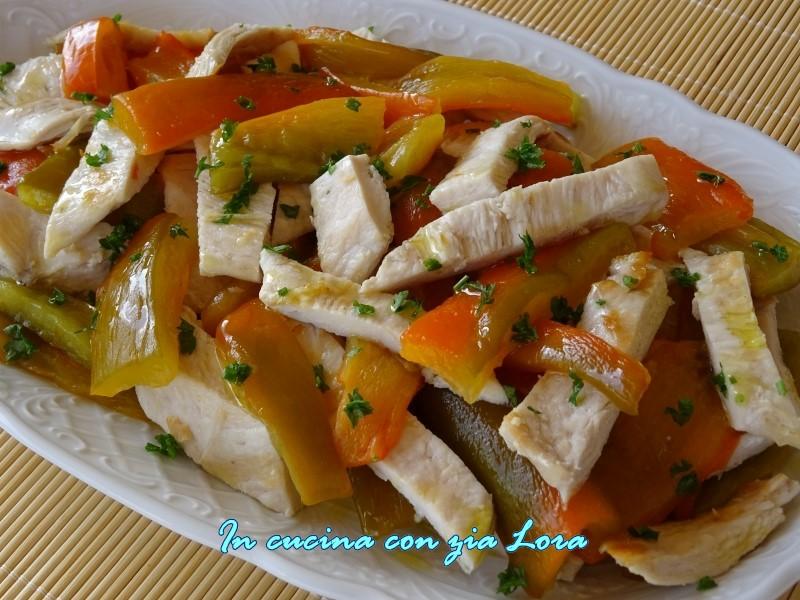 Ricetta petto di pollo con peperoni