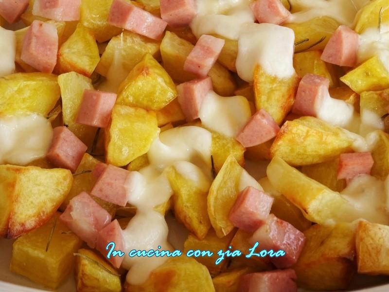 patate al forno con mozzarella e mortadella