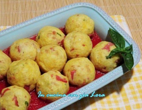 Polpette di patate al pomodoro