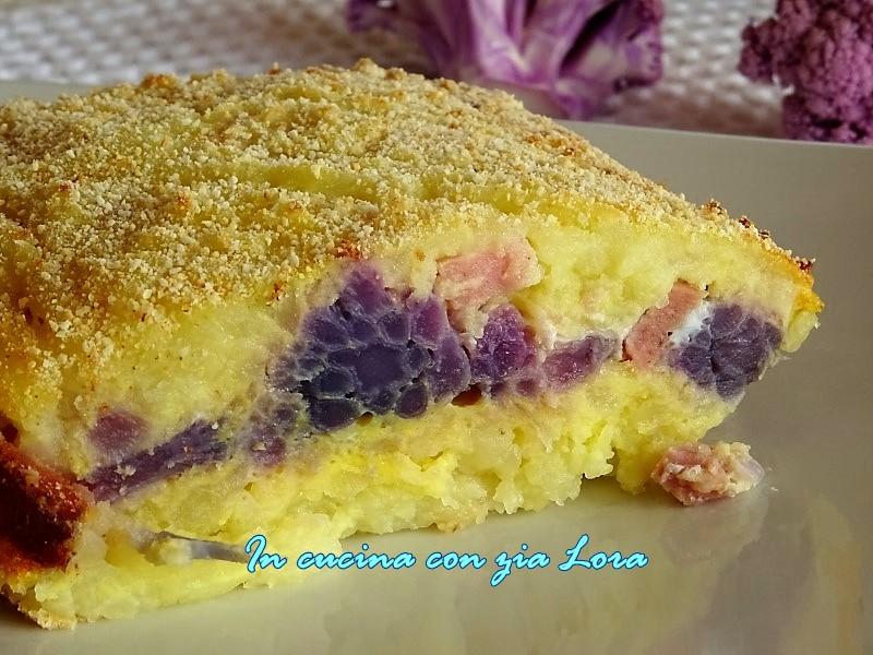 Sformato di cavolfiore viola e patate