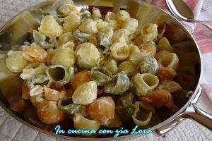 Pasta tricolore alla panna ricetta veloce