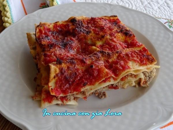 lasagne senza besciamella