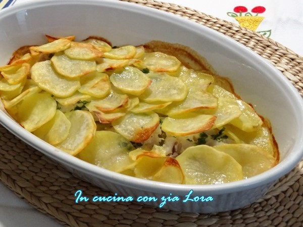 filetti di merluzzo in crosta di patate