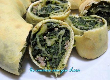 Rotolo con spinaci e salsiccia ricetta umbra