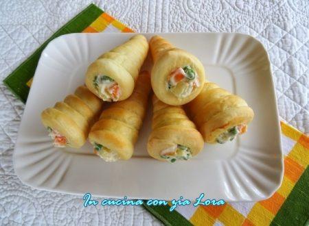 Cornetti di panbrioche con insalata russa
