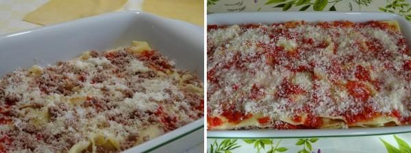 preparazione delle lasagne senza besciamella
