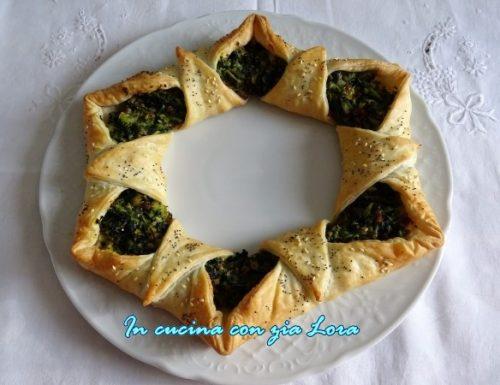 Torta salata natalizia centrotavola facile