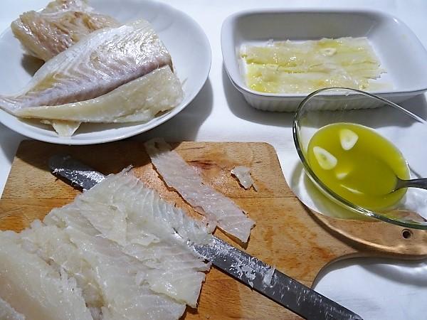 preparazione del carpaccio di baccalà ricetta semplice