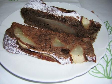 dolci semplici raccolta ricette - torta di pere yogurt e cacao