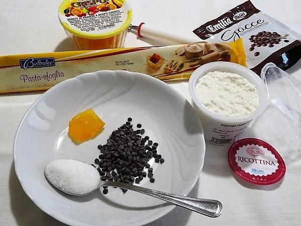 ingredienti per la calza della befana con ricotta e cioccolato