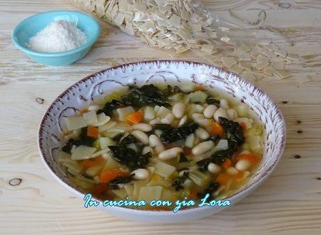 Minestra con cavolo nero fagioli e maltagliati