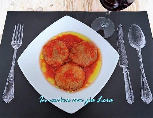 Polpette ripassate in salsa di pomodoro
