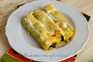 Cannelloni con cavolo nero speck e groviera