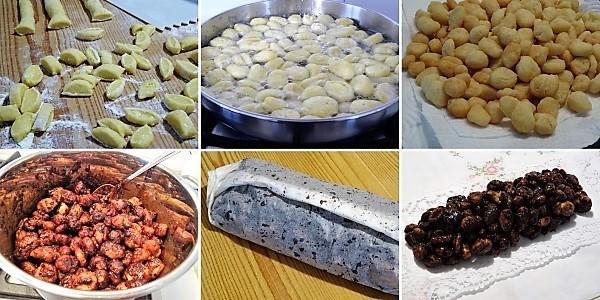 preparazione della cicerchiata al cioccolato ricetta di carnevale