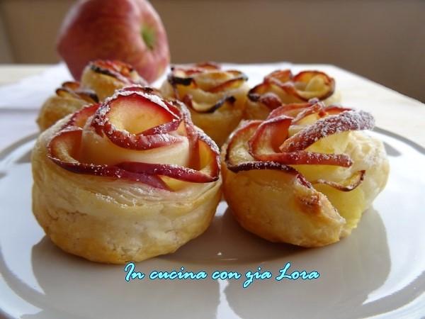 rose di mele con pasta sfoglia ricetta facile