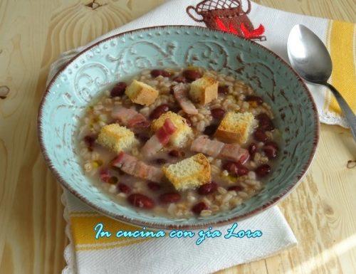Zuppa di farro e fagioli vellutina di sicilia