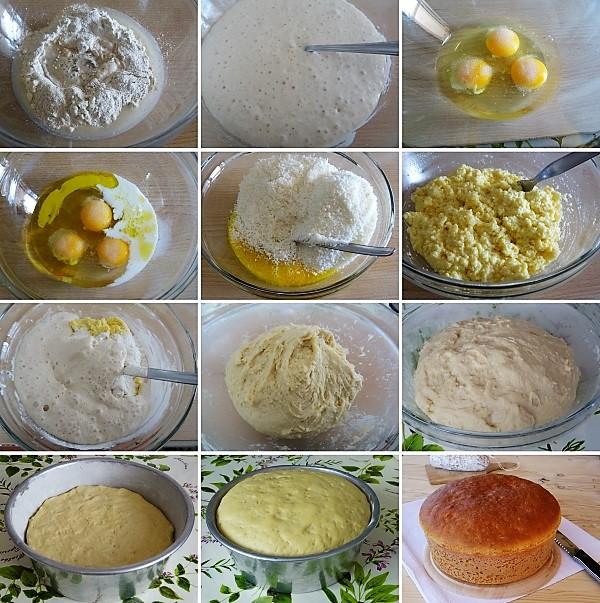 preparazione della pizza di formaggio di Pasqua umbra