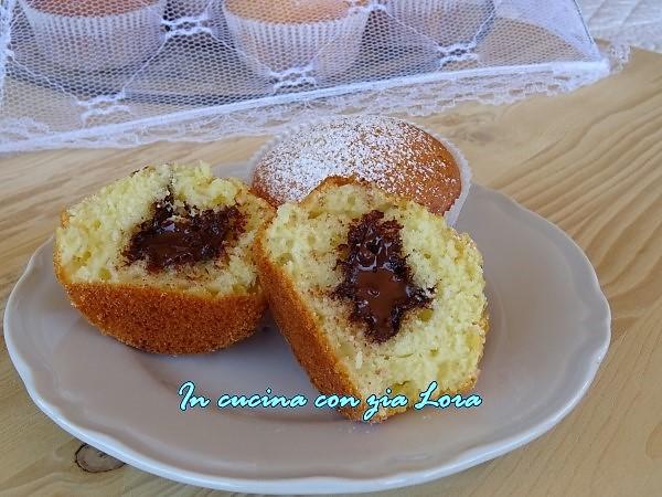 muffin con yogurt e nutella