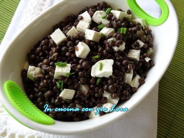 insalata di lenticchie nere e primo sale