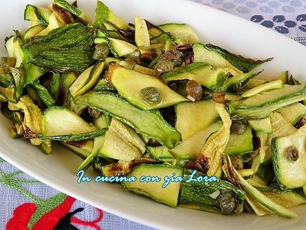 Insalata di zucchine grigliate al forno