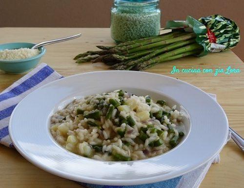 Risotto asparagi e patate ricetta veloce