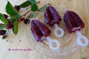 Ghiaccioli ai frutti rossi fatti in casa