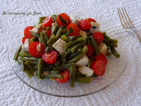 insalata di pollo e fagiolini - ricetta riciclo