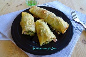 Crepes con zucchine grigliate