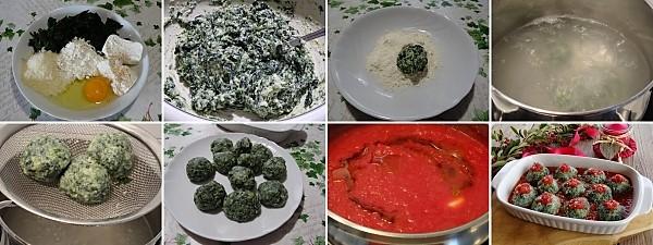 preparazione dei malfatti o gnudi al forno ricetta tipica toscana