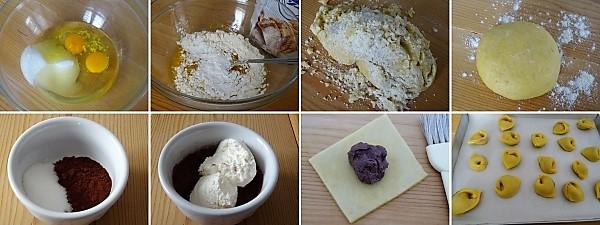 preparazione dei tortellini dolci biscotti di Natale