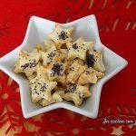 Stelline di pasta sfoglia al parmigiano