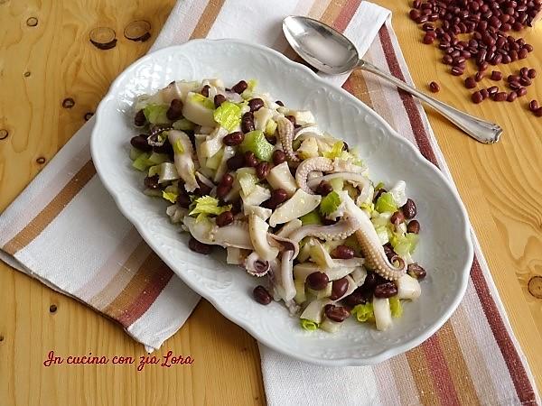 insalata di seppia e fagioli leggera