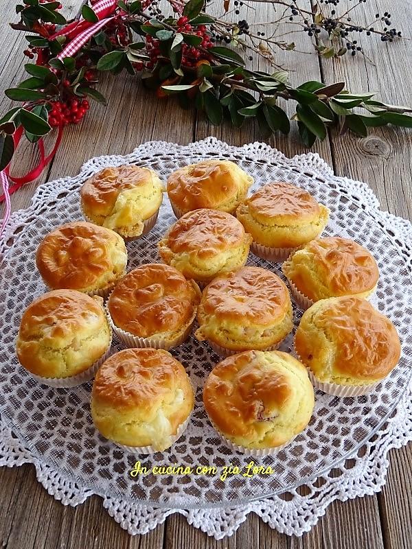 muffin salati rustici con formaggio e pancetta