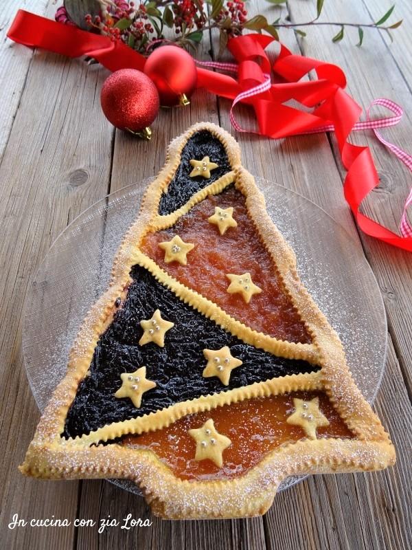 crostata albero di Natale un dolce semplice
