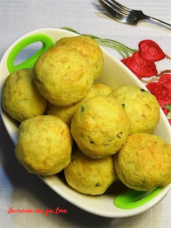 polpette di persico e patate al forno