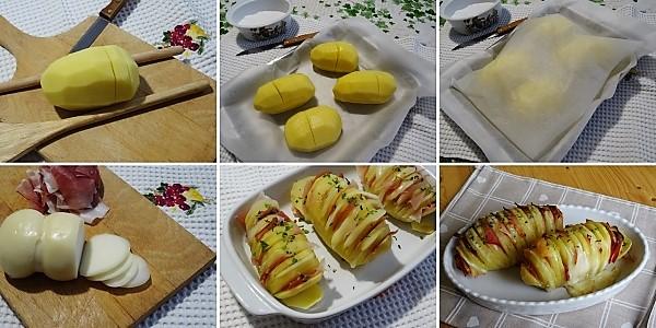 preparazione delle patate a fisarmonica al forno