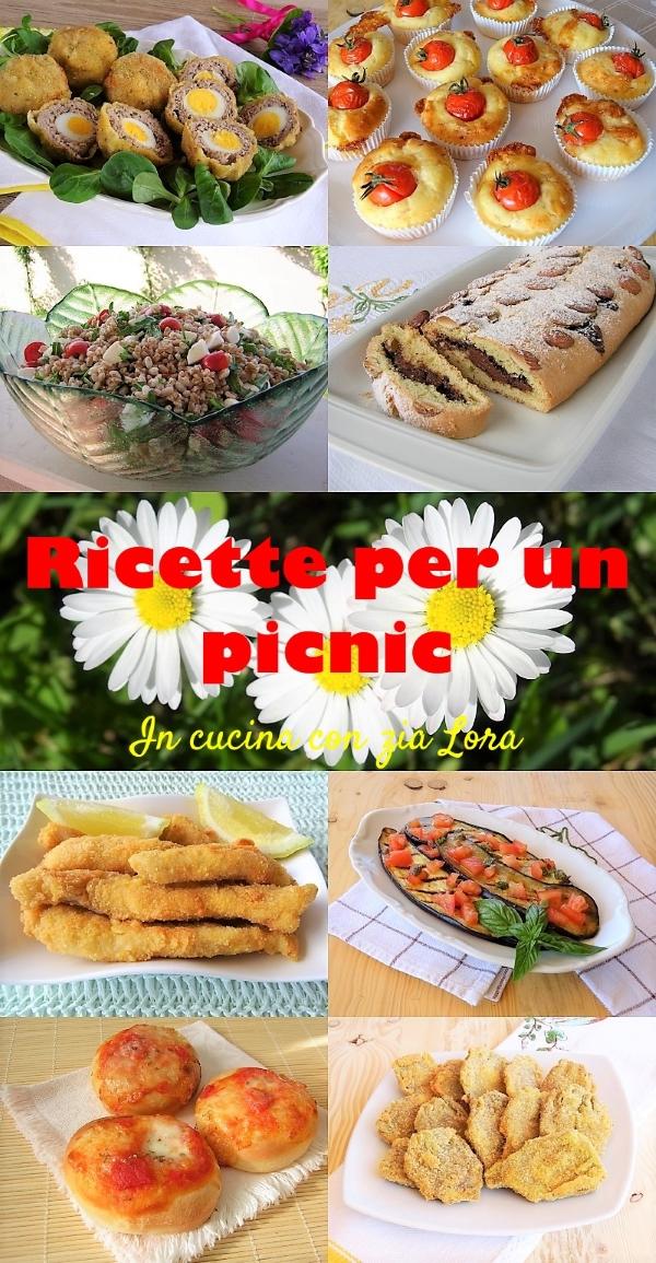 raccolta di ricette per un picnic