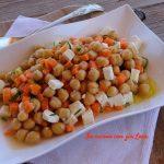 Insalata di ceci carote e feta