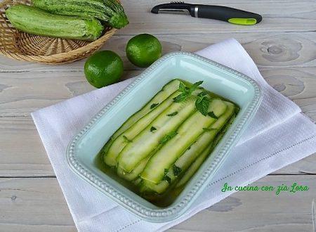 Carpaccio di zucchine al lime e menta