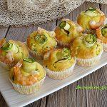 Muffin con zucchine e gamberetti