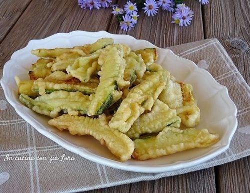 Zucchine fritte con pastella croccanti