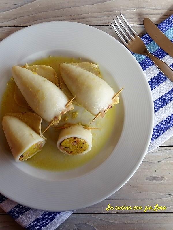 Calamari ripieni ricetta semplice