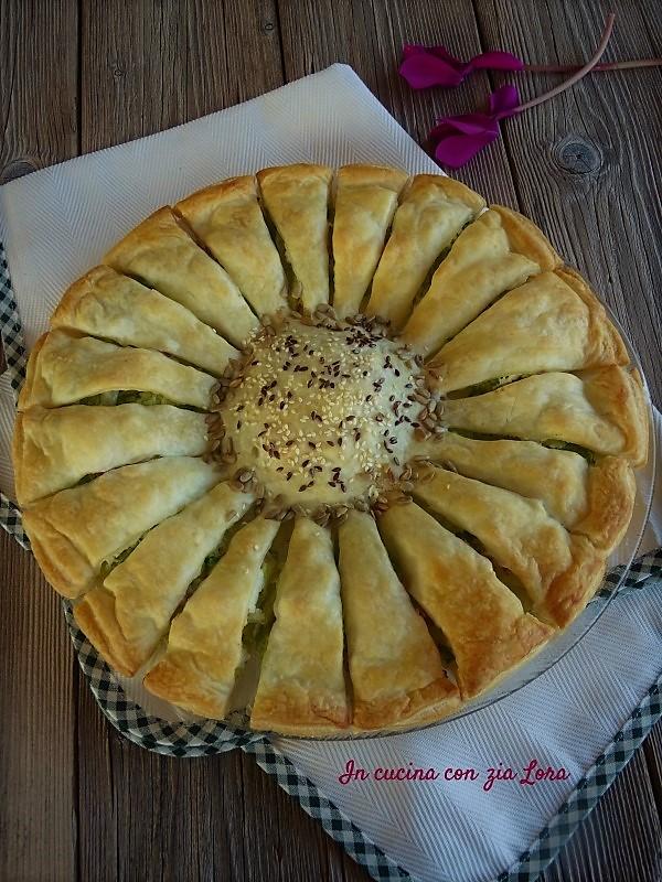 Torta fiore salata una ricetta facile