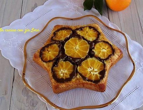 Torta rovesciata arance e cioccolato